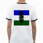 Flag of Cascadia Ringer T-Shirts Back