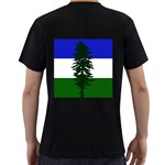 Flag of Cascadia Men s T-Shirt (Black) (Two Sided) Back