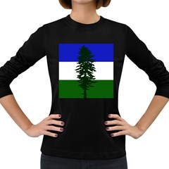 Flag Of Cascadia Women s Long Sleeve Dark T Shirts