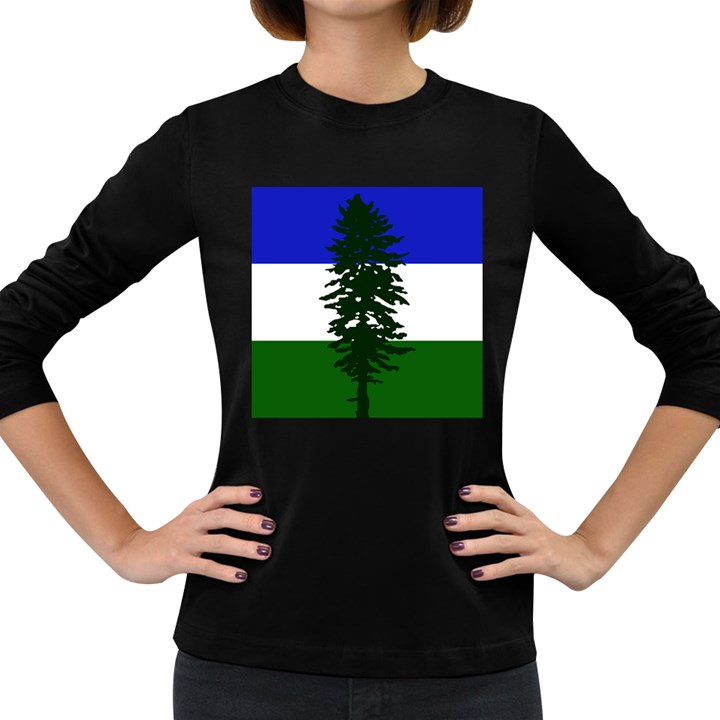 Flag of Cascadia Women s Long Sleeve Dark T-Shirts