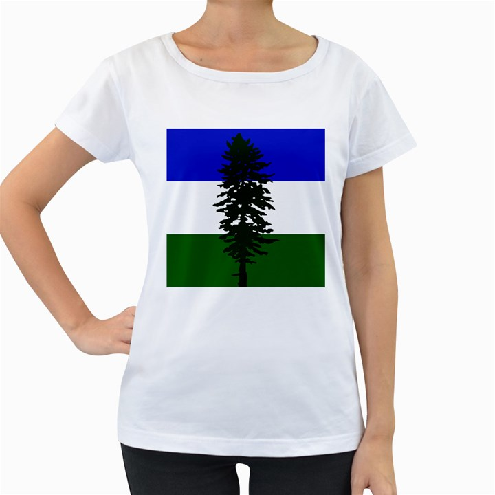 Flag of Cascadia Women s Loose-Fit T-Shirt (White)