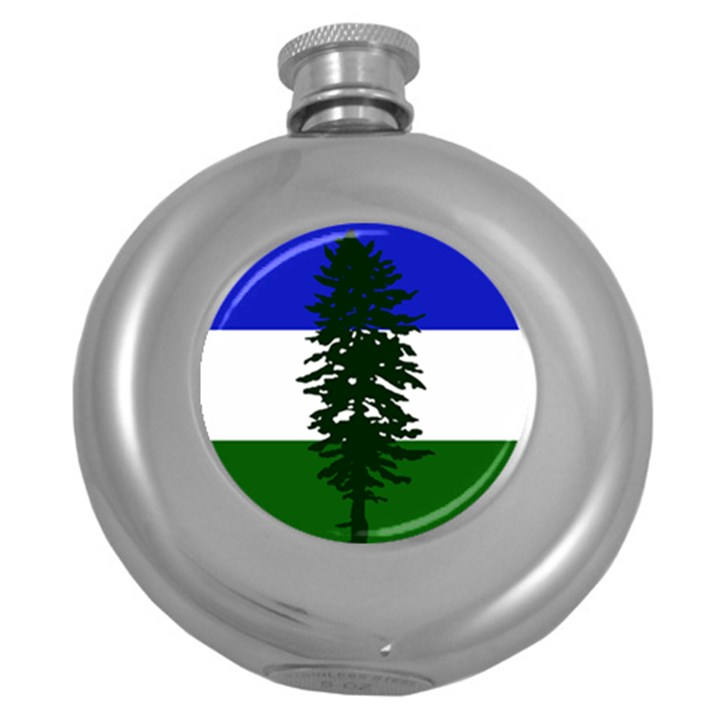 Flag of Cascadia Round Hip Flask (5 oz)