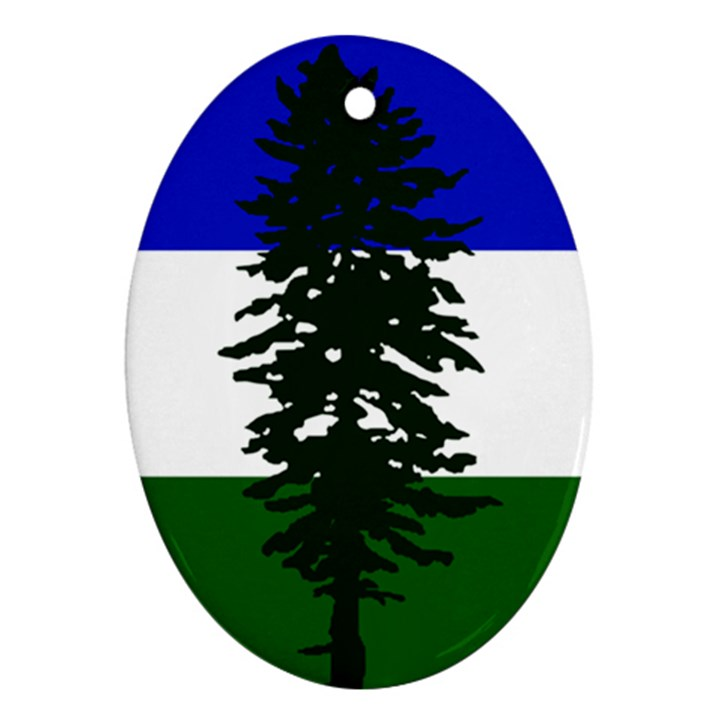 Flag of Cascadia Oval Ornament (Two Sides)