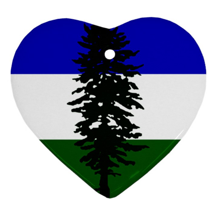 Flag of Cascadia Heart Ornament (Two Sides)
