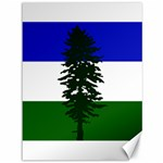Flag of Cascadia Canvas 36  x 48   48 x36 Canvas - 1