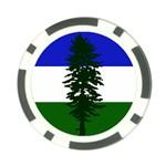 Flag of Cascadia Poker Chip Card Guard Back