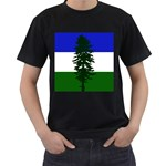 Flag of Cascadia Men s T-Shirt (Black) Front
