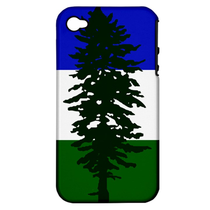Flag of Cascadia Apple iPhone 4/4S Hardshell Case (PC+Silicone)