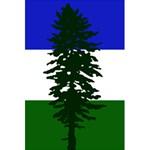 Flag of Cascadia 5.5  x 8.5  Notebooks Back Cover Inside