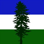 Flag of Cascadia Magic Photo Cubes Side 1