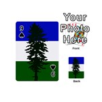Flag of Cascadia Playing Cards 54 (Mini)  Front - Spade9