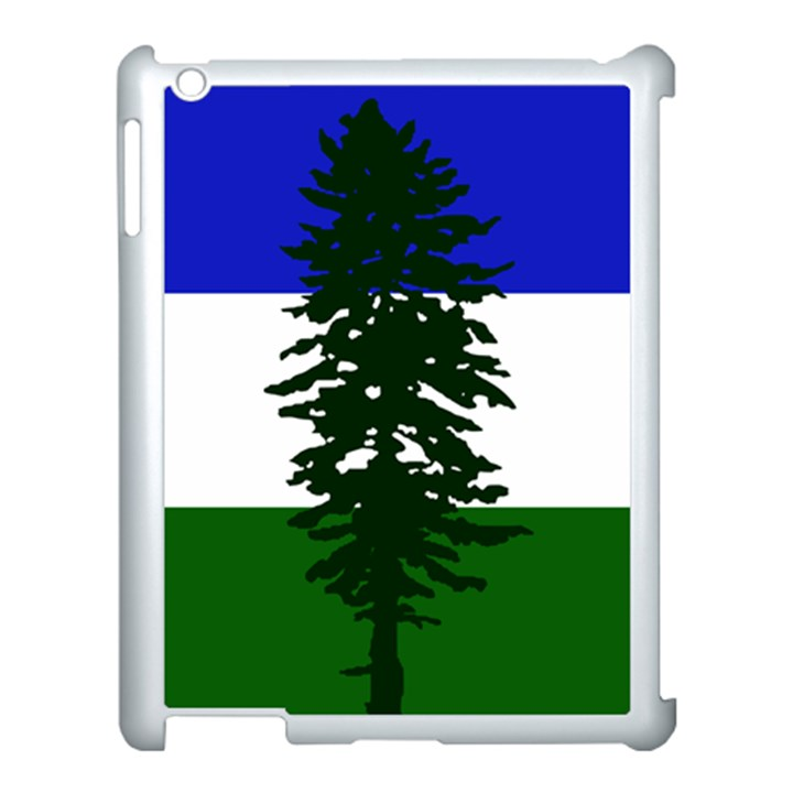 Flag of Cascadia Apple iPad 3/4 Case (White)