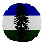Flag of Cascadia Large 18  Premium Round Cushions Back