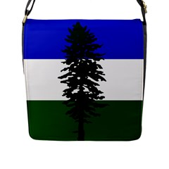Flag Of Cascadia Flap Messenger Bag (l)