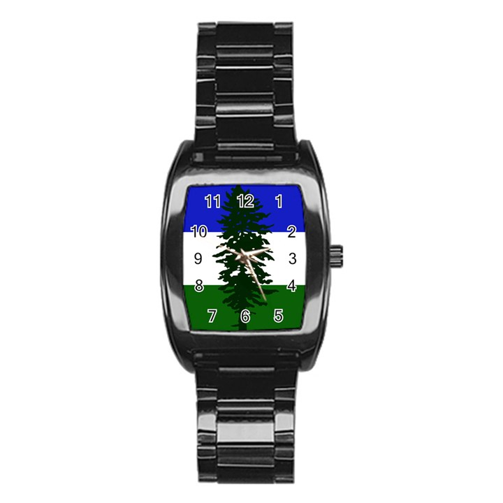 Flag of Cascadia Stainless Steel Barrel Watch