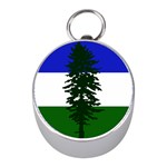 Flag of Cascadia Mini Silver Compasses Front