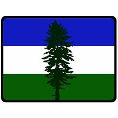 Flag Of Cascadia Double Sided Fleece Blanket (large)