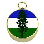 Flag of Cascadia Gold Compasses Front