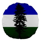 Flag of Cascadia Large 18  Premium Flano Round Cushions Back