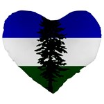 Flag of Cascadia Large 19  Premium Flano Heart Shape Cushions Front