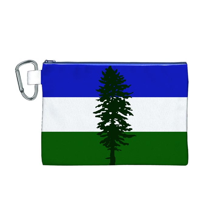 Flag of Cascadia Canvas Cosmetic Bag (M)