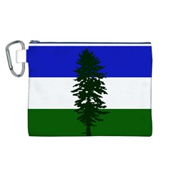 Flag Of Cascadia Canvas Cosmetic Bag (l)