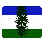 Flag of Cascadia Double Sided Flano Blanket (Large)  80 x60 Blanket Front