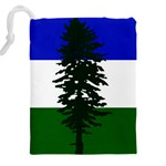 Flag of Cascadia Drawstring Pouches (XXL) Back