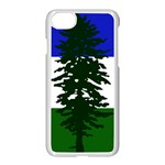 Flag of Cascadia Apple iPhone 8 Seamless Case (White) Front