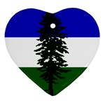 Flag of Cascadia Ornament (Heart) Front
