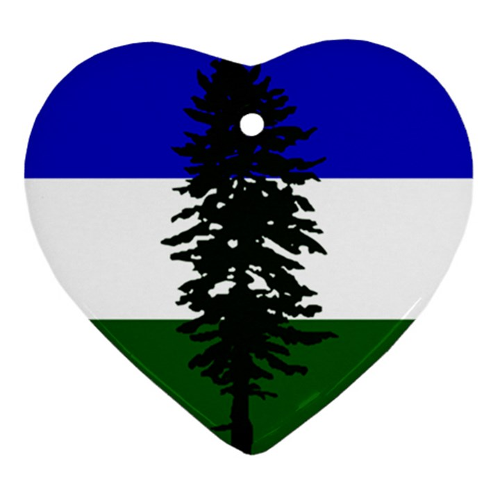 Flag of Cascadia Ornament (Heart)