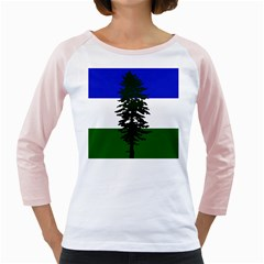 Flag Of Cascadia Girly Raglans