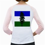 Flag of Cascadia Girly Raglans Back