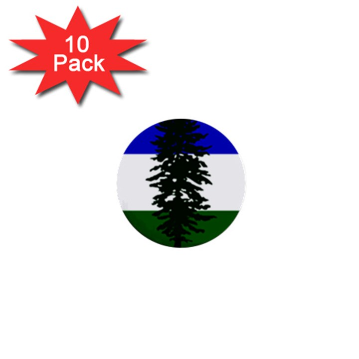Flag of Cascadia 1  Mini Buttons (10 pack)