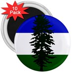 Flag of Cascadia 3  Magnets (10 pack)  Front