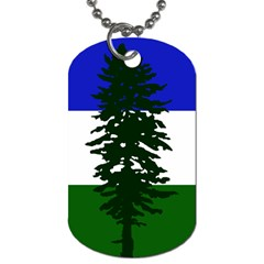 Flag Of Cascadia Dog Tag (one Side)