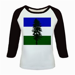 Flag Of Cascadia Kids Baseball Jerseys