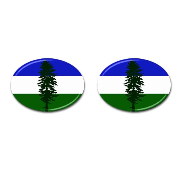 Flag of Cascadia Cufflinks (Oval)