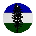 Flag of Cascadia Round Ornament (Two Sides) Back