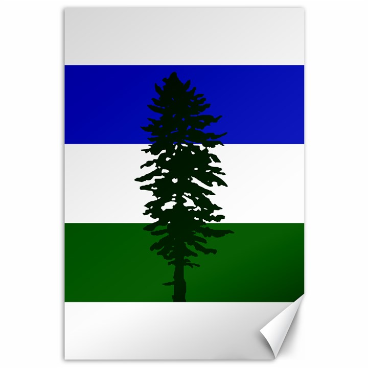 Flag of Cascadia Canvas 12  x 18