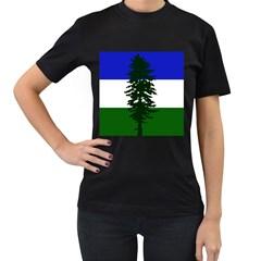 Flag Of Cascadia Women s T Shirt (black)