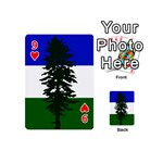 Flag of Cascadia Playing Cards 54 (Mini)  Front - Heart9