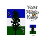 Flag of Cascadia Playing Cards 54 (Mini)  Front - Club4