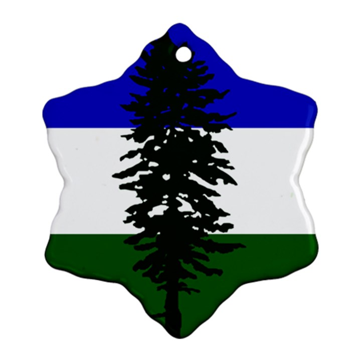 Flag of Cascadia Snowflake Ornament (Two Sides)