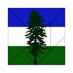 Flag of Cascadia Acrylic Tangram Puzzle (6  x 6 ) Front