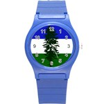 Flag of Cascadia Round Plastic Sport Watch (S) Front