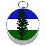 Flag of Cascadia Silver Compasses Front