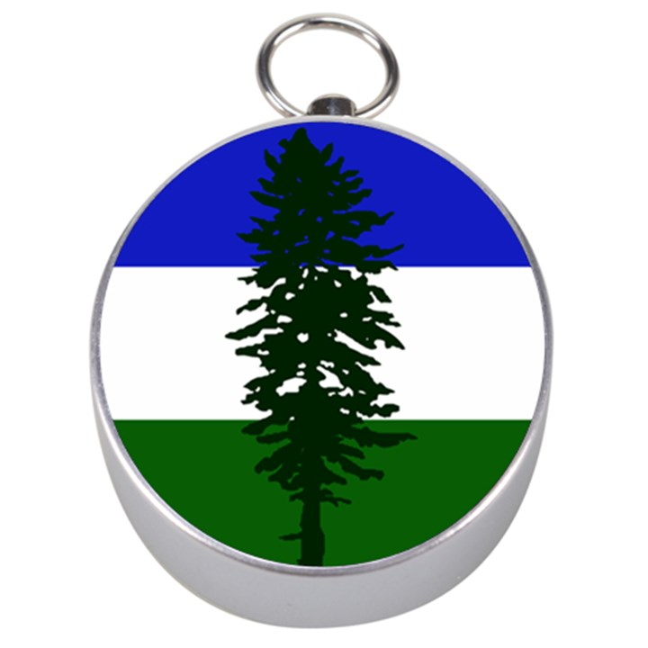 Flag of Cascadia Silver Compasses