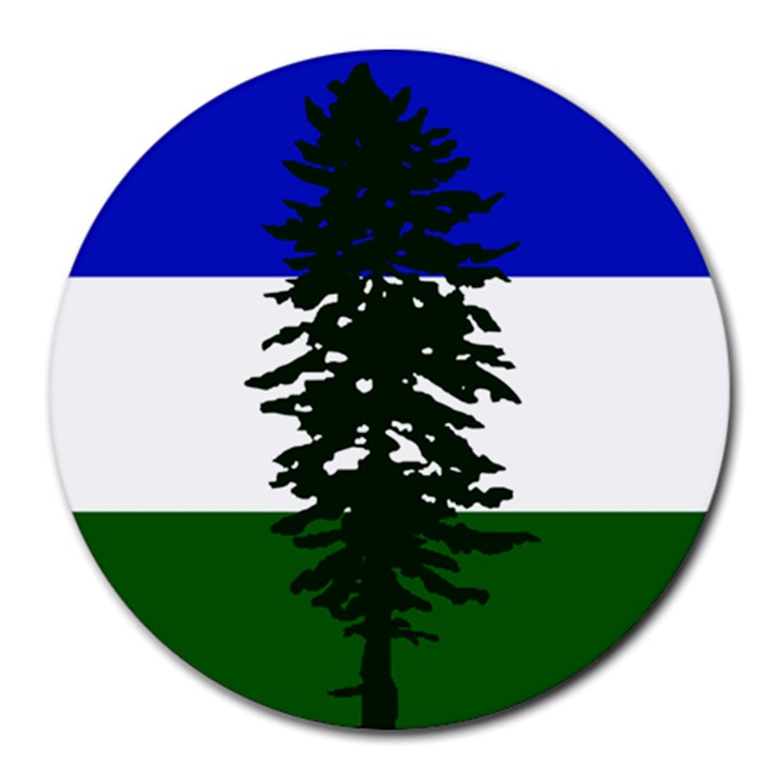 Flag of Cascadia Round Mousepads