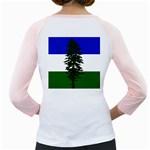 Flag of Cascadia Girly Raglans Back